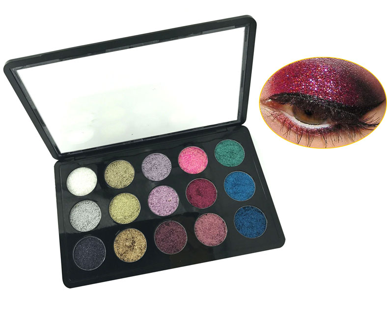 <b>15 Color Glitter Eyes</b>
